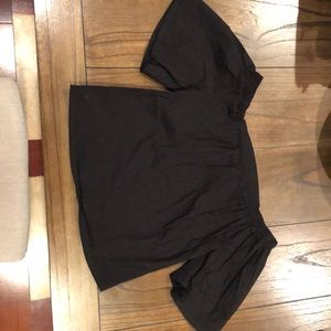 CHARLOTTE RUSSE Black off the shoulder top